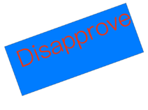 Disapprove