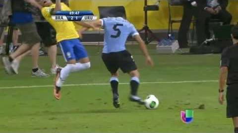 Worst Dive ever by Neymar • Brazil vs Uruguay 2 1 • Confed Cup 2013