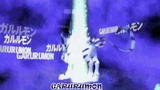 Garurumon se Digivolve en Were Garurumon (V.O.)