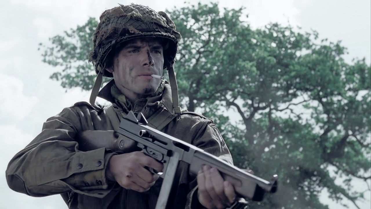 M1A1 Thompson   Band of Brothers Wiki   FANDOM powered by Wikia