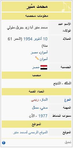 6ef8755f7 محمد منير   ويكي ويكيبيديا، الموسوعة الحرة   FANDOM powered by Wikia