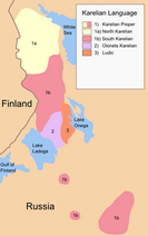 250px-Map of Karelian dialects