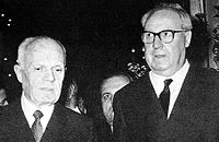 Sandro Pertini e Giuseppe Saragat