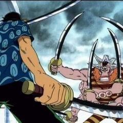 Zoro VS Hatchan