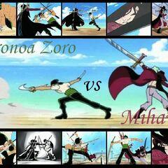 Zoro VS Mihawk