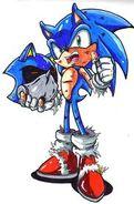 Sonic vencendo metal