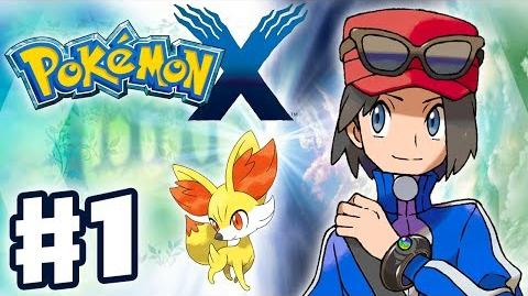 Pokemon X and Y - Gameplay Walkthrough Part 1 - Intro and Starter Evolutions (Nintendo 3DS)