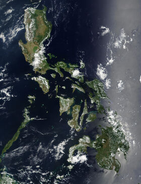 Satellite image of Philippines in March 2002