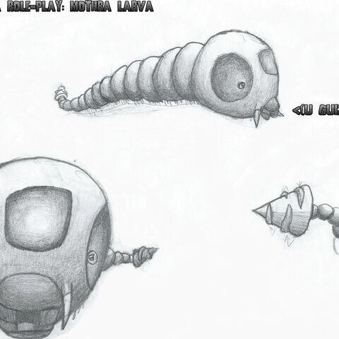 Mothra Larva concept sketches