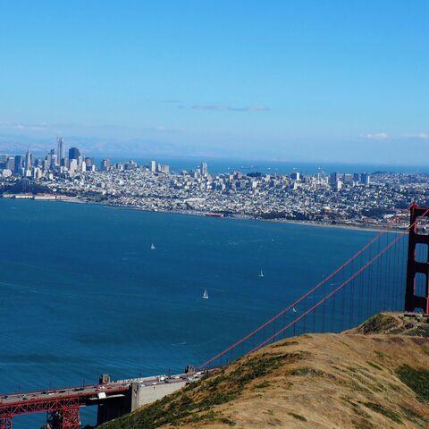 Skyline of <b>San Francisco</b> from Marin.
