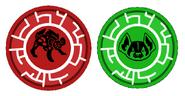 Wild Kratts- Hyena and American Badger Power Discs