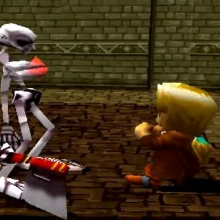 A Skeleton attacking Jack