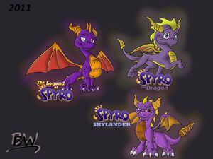 Spyro and spyro and spyro by wolffrompoland-d3ll0ta