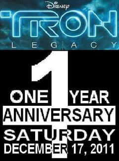Tron legacy one year anniversary