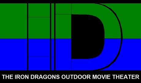 Iron dragons outdoor movie theater new logo (2015)