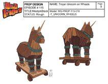 Wooden Trojan Unicorn