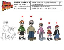 Various of Goggles relatives