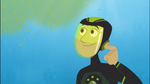 Chris looking at Plankton