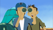 Kratt Bros Looking Through Binoculars