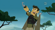 Chris with Grappling Hook