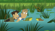 Bros in the Middle of Frog Battle