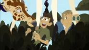 Chris finds Giraffe