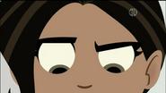 Aviva serious eyes