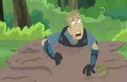 Martin slipping in Mud