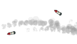 Missile Stream In Flight