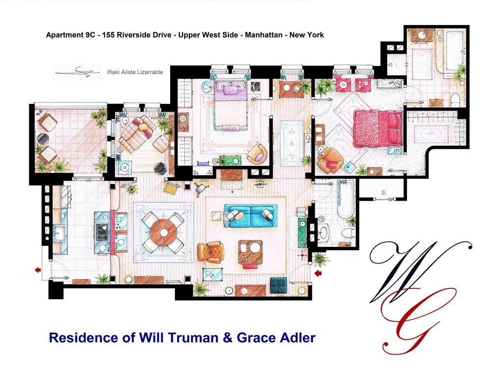 Apartment Of Will Truman And Grace Adler By Nikneuk D5jfkv1