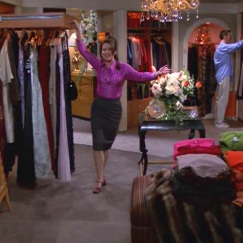 Karen's walk-in closet