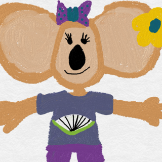 This is Katherine Koala in her Summer outfit.