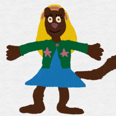 This is Sheila Teer in her fursona, Sheila Mink.