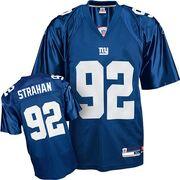 Reebok-New-York-Giants-92-Michael-Strahan-Blue-Team-Color-Replica-NFL-Jersey