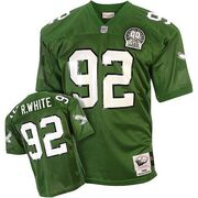 Mitchell And Ness Philadelphia Eagles 92 Reggie White Green Team Color Replica Throwback NFL Jersey