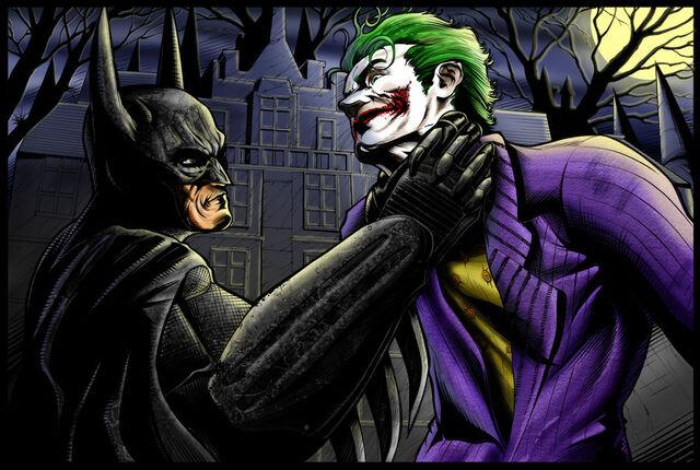 File:BATMAN VS JOKER by KYLE CHANEY.jpg