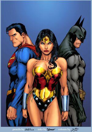 Superman Wonder Woman Batman By Jukkart