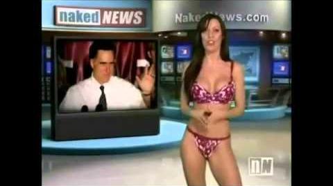 Sexy Girl Strips Her Mini Skirt on Naked News