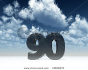 Stock-photo-the-number-ninety-in-front-of-blue-sky-d-illustration-35966878
