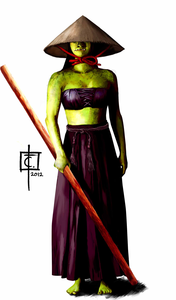Orc monk woman