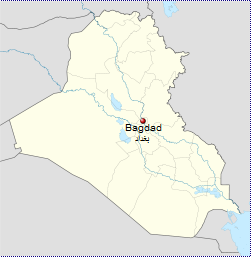Bagdad mapa