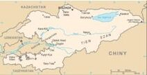 Kirgistan mapa