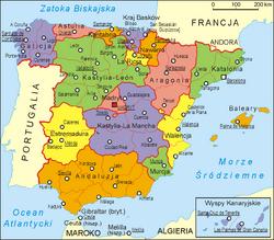MapaHiszpania
