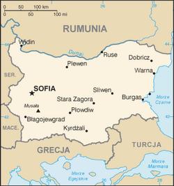Bulgaria mapa