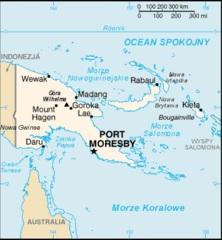 PapuaNowaGwineaMapa