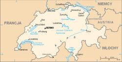 Mapa Szwajcaria