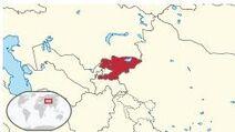 Kirgistan Lokalizacja