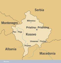 MapaKosowa