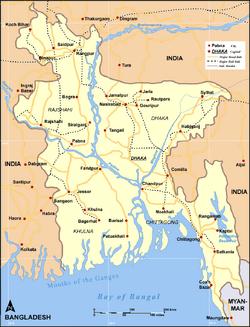 Map Bangladesh RoadRail