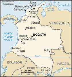 MapaKolumbia